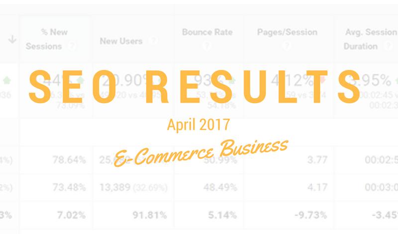 SEO Results April 2017